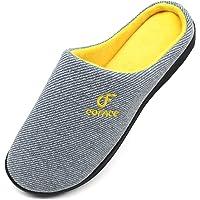 Coface Zapatillas-De-Casa-Hombre-Pantuflas-Suela-de-Memoria, Zapatos Invierno de La Casa, Hombre Zapatilla de Estar…