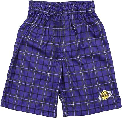 Purple Los Angeles Lakers NBA Little Boys Plaid Pajama Pants