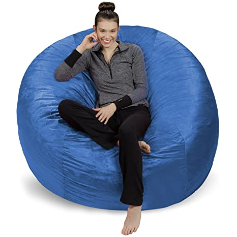 Magnificent Sofa Sack Plush Ultra Soft Bean Bags Chairs For Kids Teens Adults Memory Foam Beanless Bag Chair With Microsuede Cover Foam Filled Furniture Forskolin Free Trial Chair Design Images Forskolin Free Trialorg