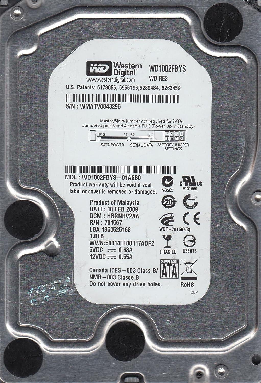 Western Digital WD1002FBYS-01A6B0 1TB Internal Hard Drive