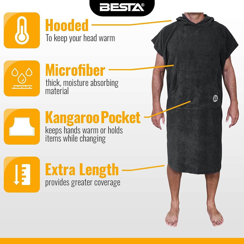 Amazon.com : BESTA Surf Poncho, Wetsuit Changing Robe/Towel ...