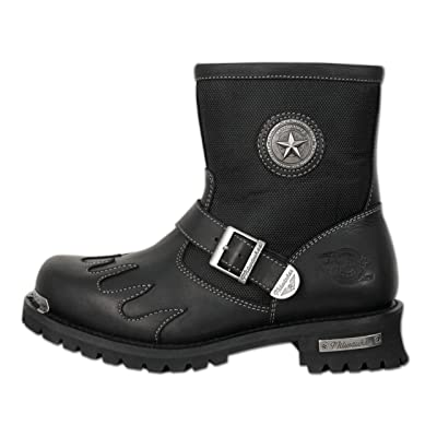 Milwaukee Motorcycle Clothing Company Mens Burnout Boots (Black, Size 9.5)