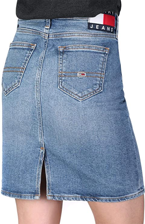 Tommy Hilfiger Regular Denim Skirt Falda para Mujer: Amazon.es ...