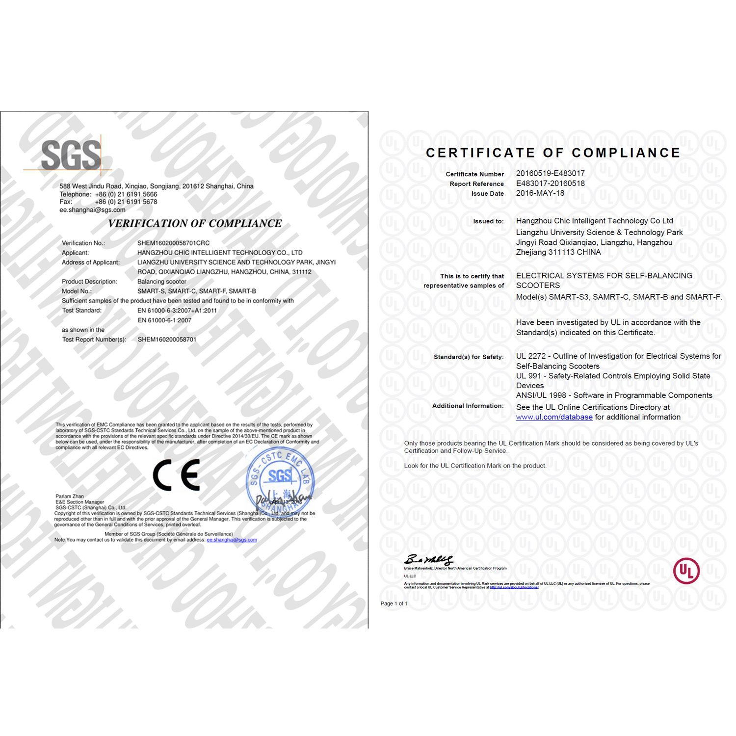 Scooter dating certificate