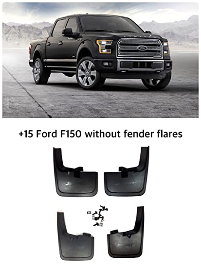 F150 Mud Flaps >> Amazon Com 2015 2018 Ford F 150 Mud Flaps Guards Splash