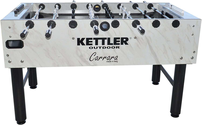 Kettler Carrara Outdoor Foosball Table with 360 Degree Goalie Rotation, 5 Resin Balls, 5 Cork Balls and Premium Storage Cover