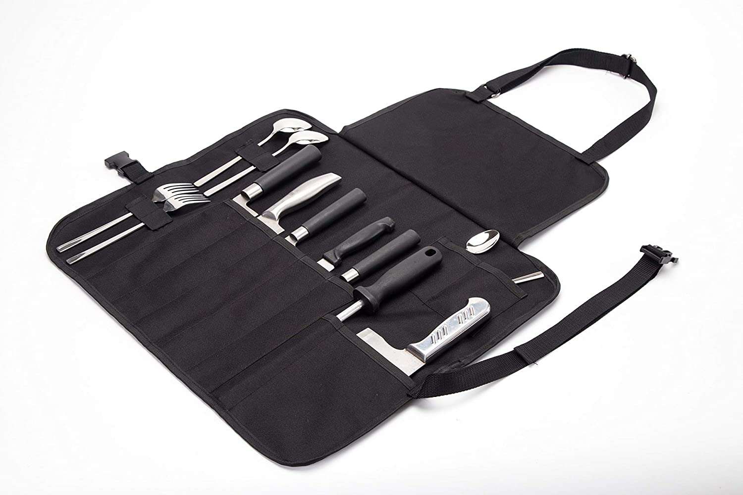 Chef's Knife Roll Up Multi Purpose BBQ Grill Knife Tool Apron Storage Tool Roll Pouch Storage Professional Gift for Culinary Student or Chef DD30