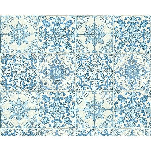 Fliesen orientalisch - Tapete orientalisch blau ...