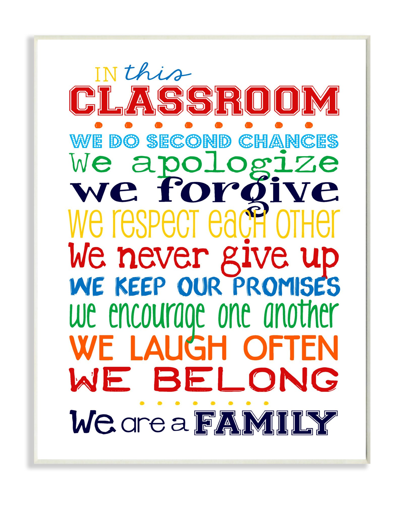 The Kids Room by Stupell in This Classroom Rules Typography Art Wall Plaque, 11 x 0.5 x 15, Proudly Made in USA by The Kids Room by Stupell