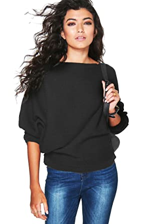 Forever Women's Long Sleeves Baggy Style Oversize Sweater at ...