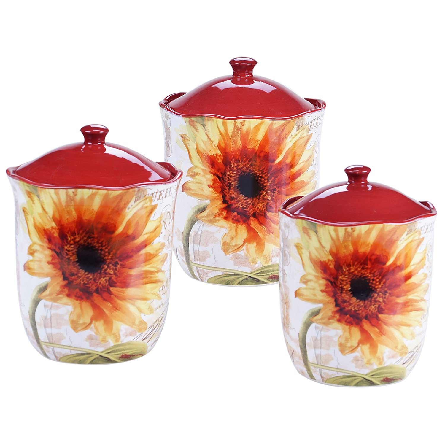 amazon com certified international 3 piece paris sunflower