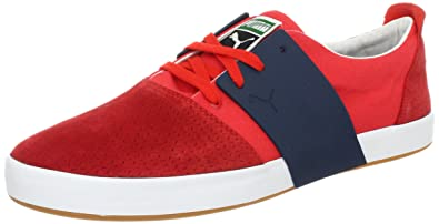 PUMA Mens EL Ace 3 Mixed Fashion SneakerRedNew Navy11 D