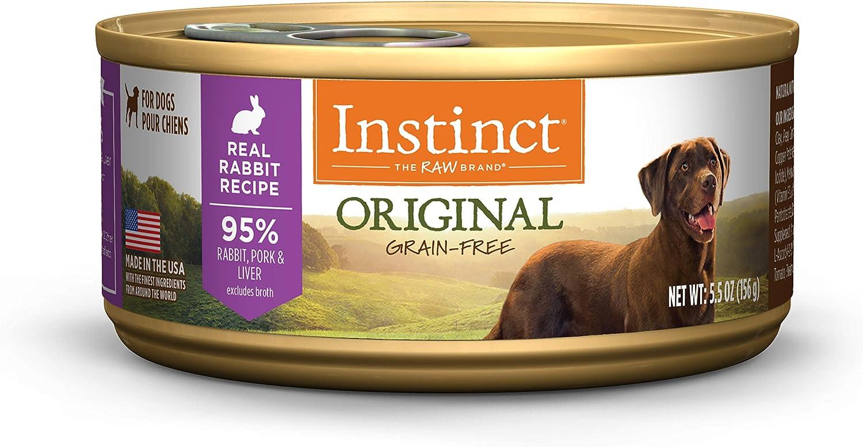 Instinct Grain Free Wet Dog Food, Original Recipe Natural Canned Dog Food