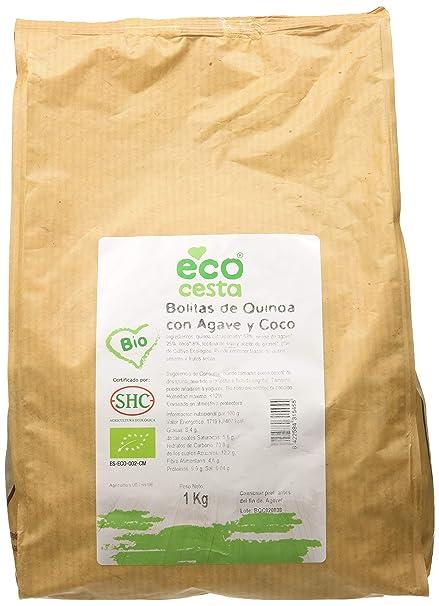 Ecocesta- Bolitas de quinoa con ágave y coco bio, 1 kg .