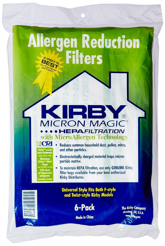Kirby G10 G10E G10SE Vacuum Cleaner Genuine HEPA Dust Bags (Pack of 6) by Kirby