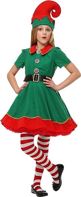 Amazon.com: Disfraz de elfo para niña: Clothing