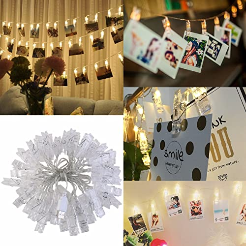 ledmomo 40 led photo clip string lightsusb poweredstring lights for home - Amazon Christmas Decorations Indoor