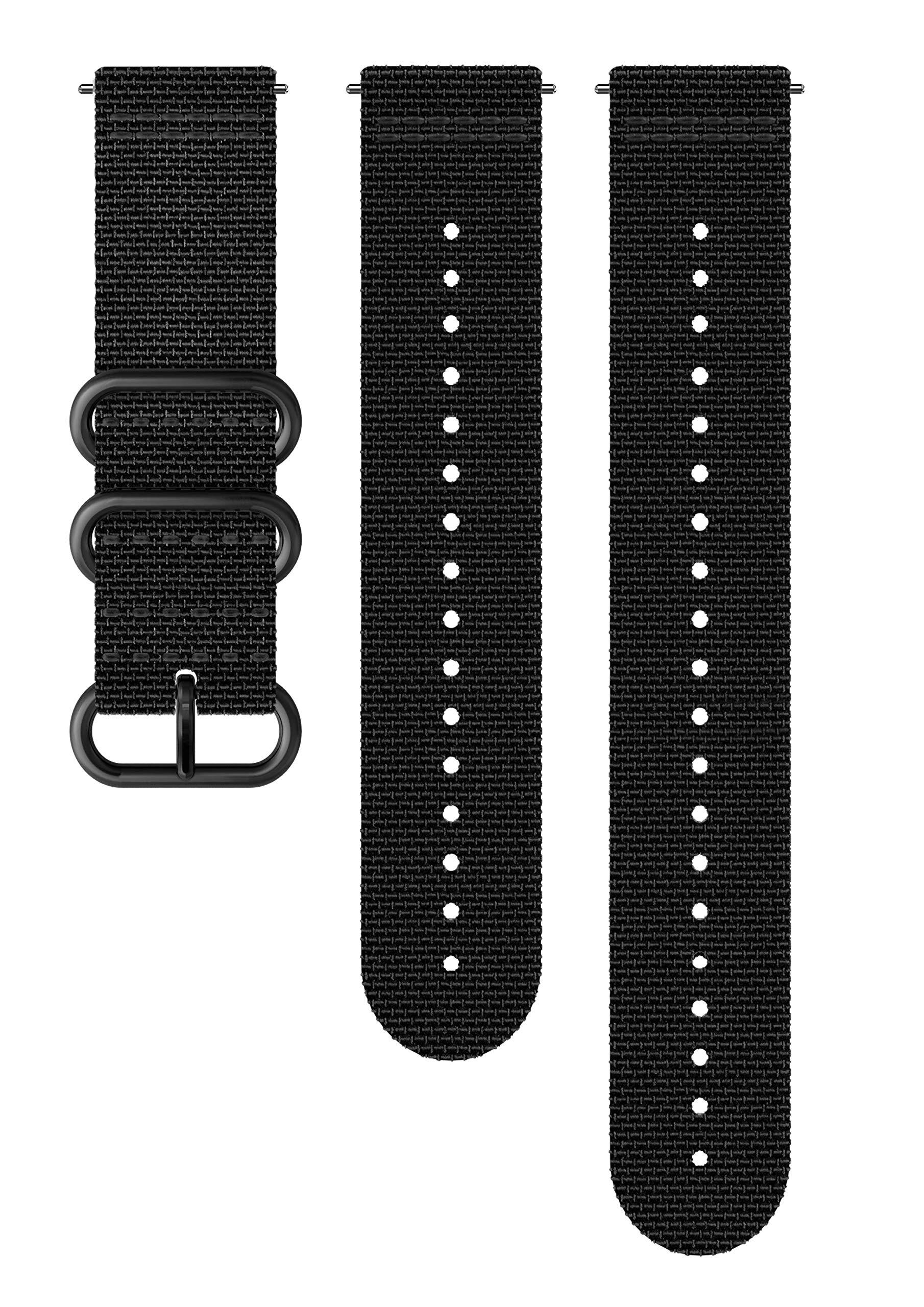 Suunto Watch Strap, 24mm, Textile, Black- Explore, M+L: 130-240 mm by Suunto