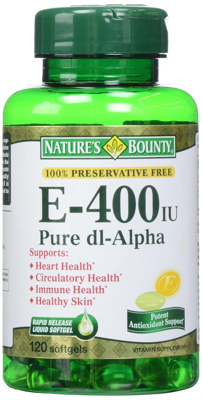 Nature's Bounty, E-400 IU Pure dI-Alpha Softgels, 120 ct
