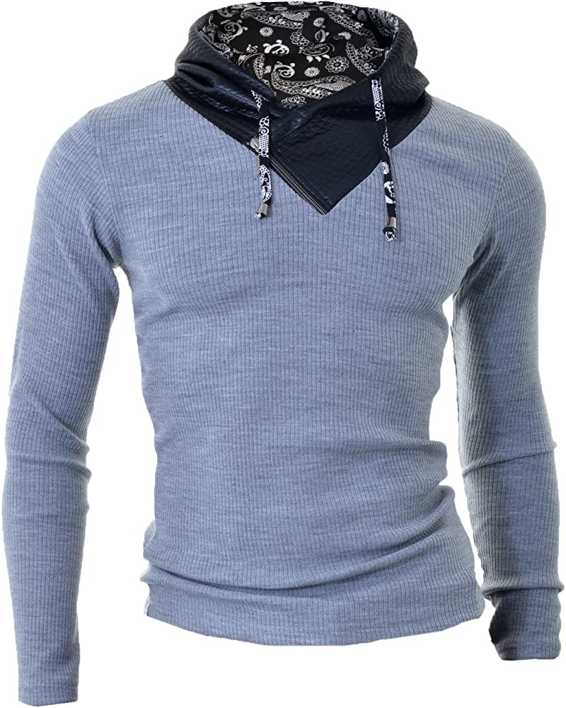 Cipo /& Baxx Long-Sleeved V-Neck T-Shirt Winter Collection Men