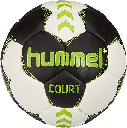 hummel Court Balón de Balonmano, Unisex Adulto, Asphalt/Verde Lima ...