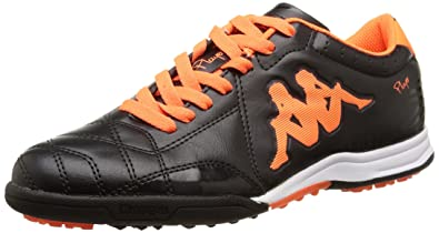 Kappa Player TG Base, Chaussures de Football Entrainement Homme, Noir  (Black/Orange