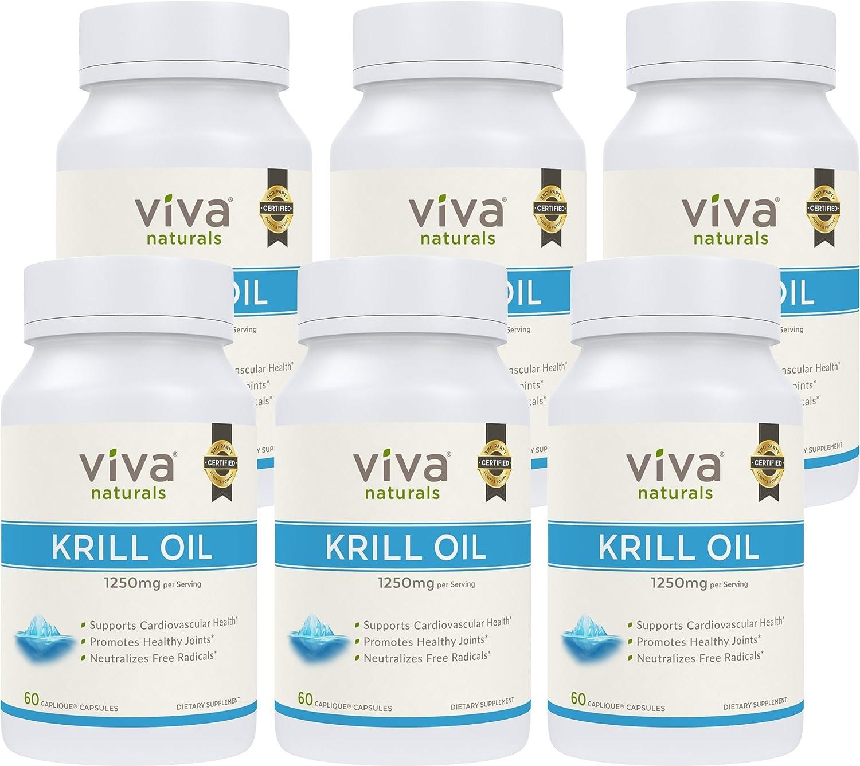 Viva naturals krill oil 6 bottles 360 capliques for Viva fish oil