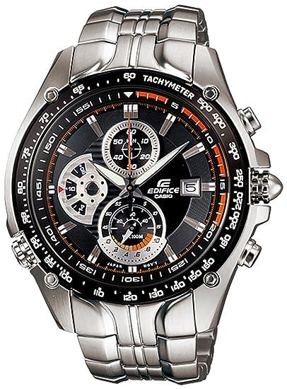 CASIO 19300 EF-543D-1AV - Reloj Caballero Cuarzo con Brazalete metálico dial Negro: Casio: Amazon.es: Relojes