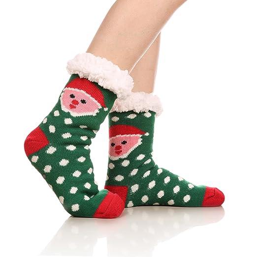 WENER Womens Christmas Gift Fleece-Lined Warm Thick Winter Slipper ...