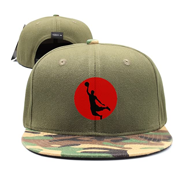 e3dc0536d18c Custom Basketball Player Silhouette Red Snapback Hat Adjustable Vintage Cap  at Amazon Men's Clothing store: