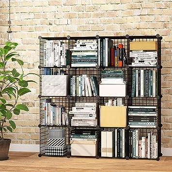 vuhom Metall Draht Cubes, Modular Regale Diffusorkugel, DIY Closet ...