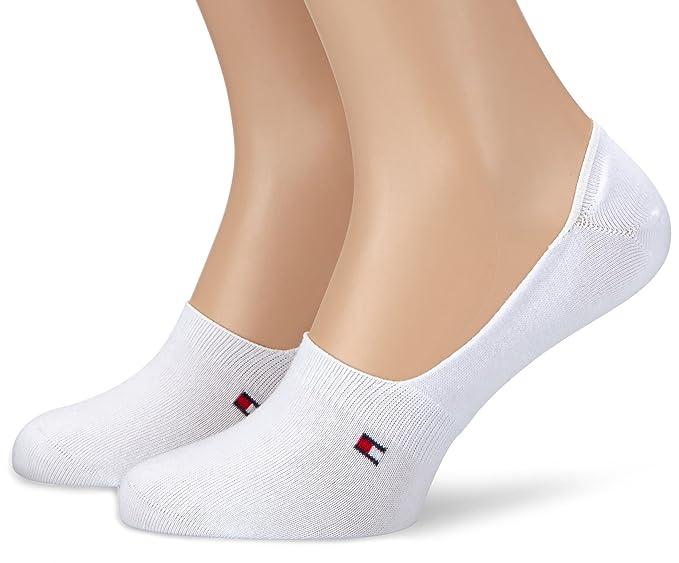Tommy Hilfiger Th Men Footie Invisible 2P - Calcetines cortos para hombre, talla 43/46 (43-46) - talla alemana, color blanco: Amazon.es: Ropa y accesorios