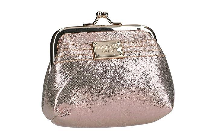NAJ-OLEARI Cartera mujer bolso rosa con apertura de metal VA2493: Amazon.es: Ropa y accesorios