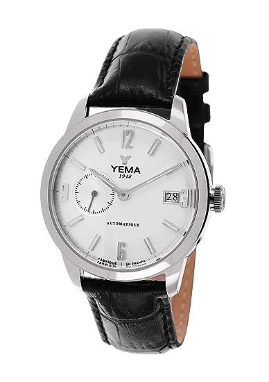 Yema YEAU 016-FA - Reloj de pulsera Hombre, Cuero, color Negro