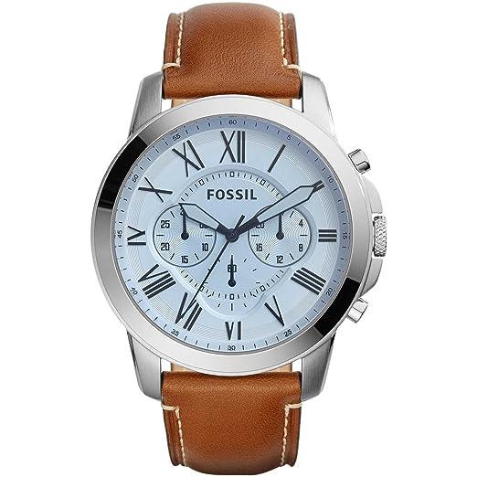 Fossil Reloj analogico para Hombre de Cuarzo con Correa en Piel FS5184: Amazon.es: Relojes