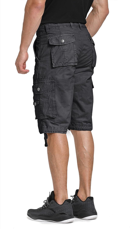 WenVen Mens Summer Lightwight Cotton Twill Casual Cargo Shorts Regular /& Big-Tall Sizes