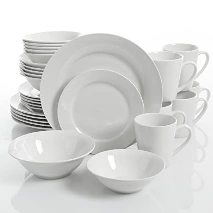 Gibson Home Noble Court 30 Pice Dinnerware Set White  sc 1 st  Amazon.com & Amazon.com | Gibson Home Noble Court 30 Pice Dinnerware Set White ...