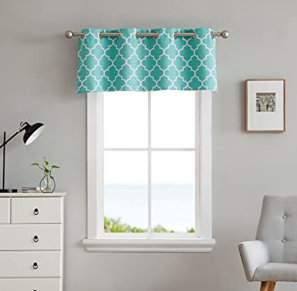 amazon com hlc me lattice print thermal grommet blackout valance