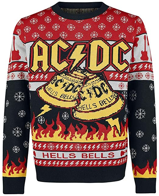 Ac Dc Holiday Sweater 2019 Christmas Jumper Multicolour M