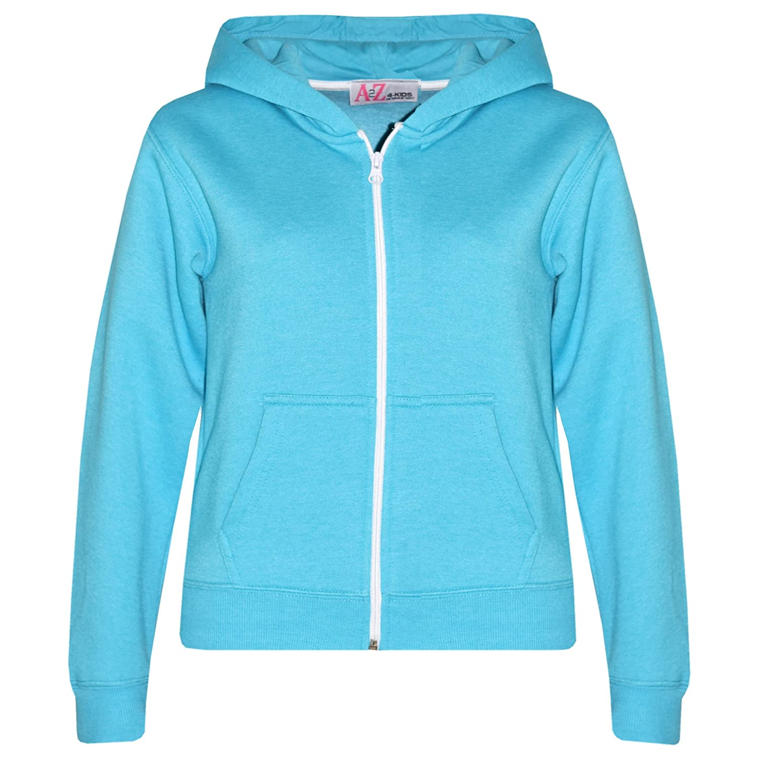 bf14716a0 A2Z 4 Kids Kids Girls And Boys Unisex Plain Fleece Hoodie Zipper. A2Z 4  Kids Is Our Trade Mark, It Is Exclusive To Our Amazon Shop Only.