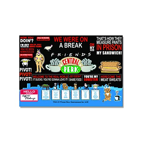 Buy Mc Sid Razz Friends TV Series Quotes Rectangular Fridge Magnet Gift Set Birthday Officially Licensed By Warner Bros USA Online At Low Prices In