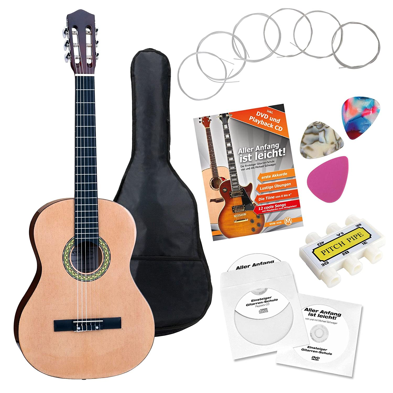Classic Cantabile AS-861 guitarra de concierto 4/4 set de ...