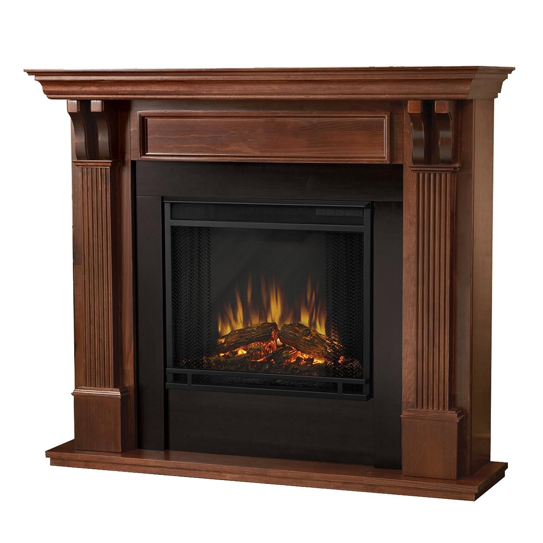 Real Flame 7100E-M 7100E Ashley Electric Fireplace, Medium, Mahogany