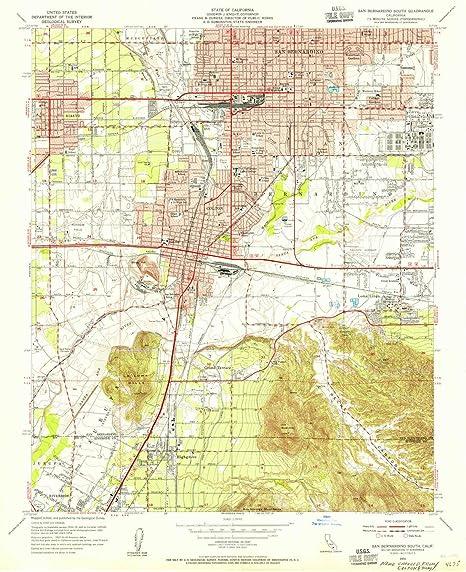 California Map San Bernardino on