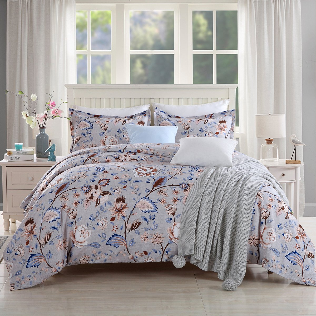 GOOFUN-D31Q Duvet Cover Bedding Set 3pcs Lightweight Microfiber Well Designed Extremely Durable, Full/Queen Size