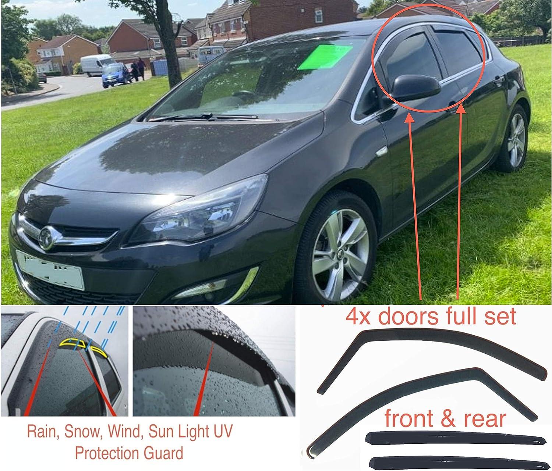 4 x Windabweiser kompatibel mit Opel Astra J Schr/ägheck 5-T/ürer 2009 2010 2011 2012 2013 2014 2015 Acrylglas PMMA T/ür Fenster in Kanal Visiere Regen Schnee Wetter Schutz
