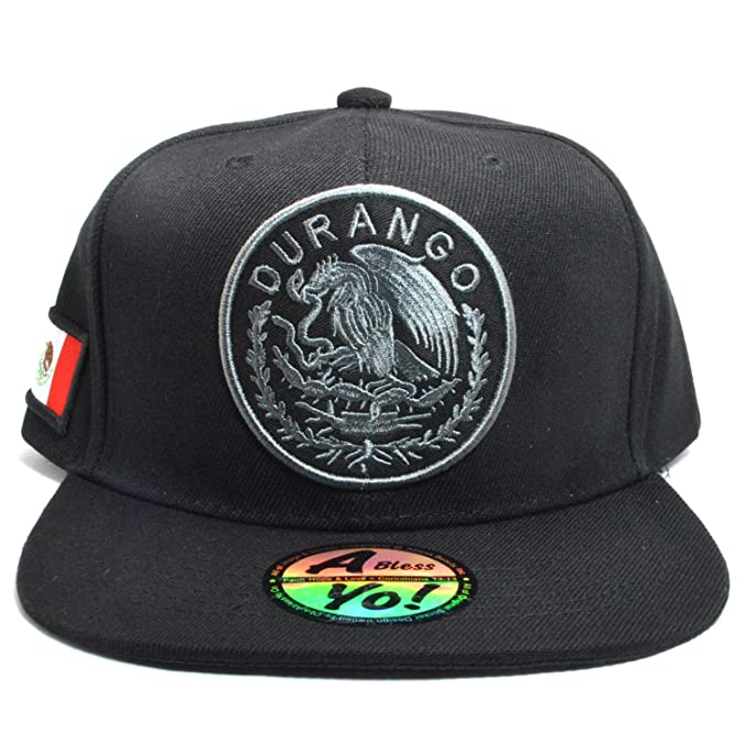 5cd1a04d3 AblessYo Mexican Hat Mexico Federal Embr Snapback Baseball Cap Flat Bill  AYO6028
