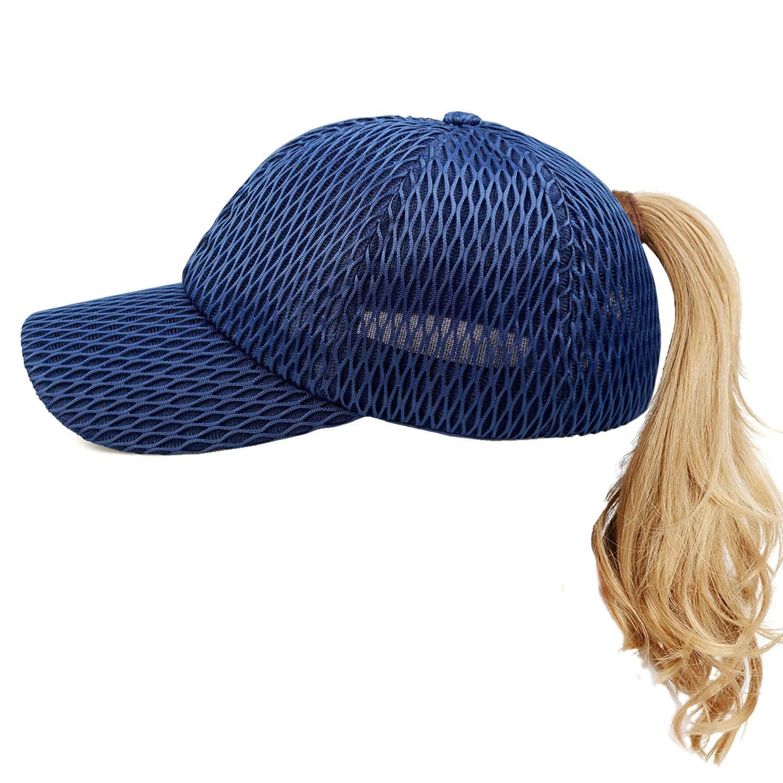 2018 Women High Ponytail Hats Messy Bun Ponycap Sun Hats Women Ponytail Baseball Cap