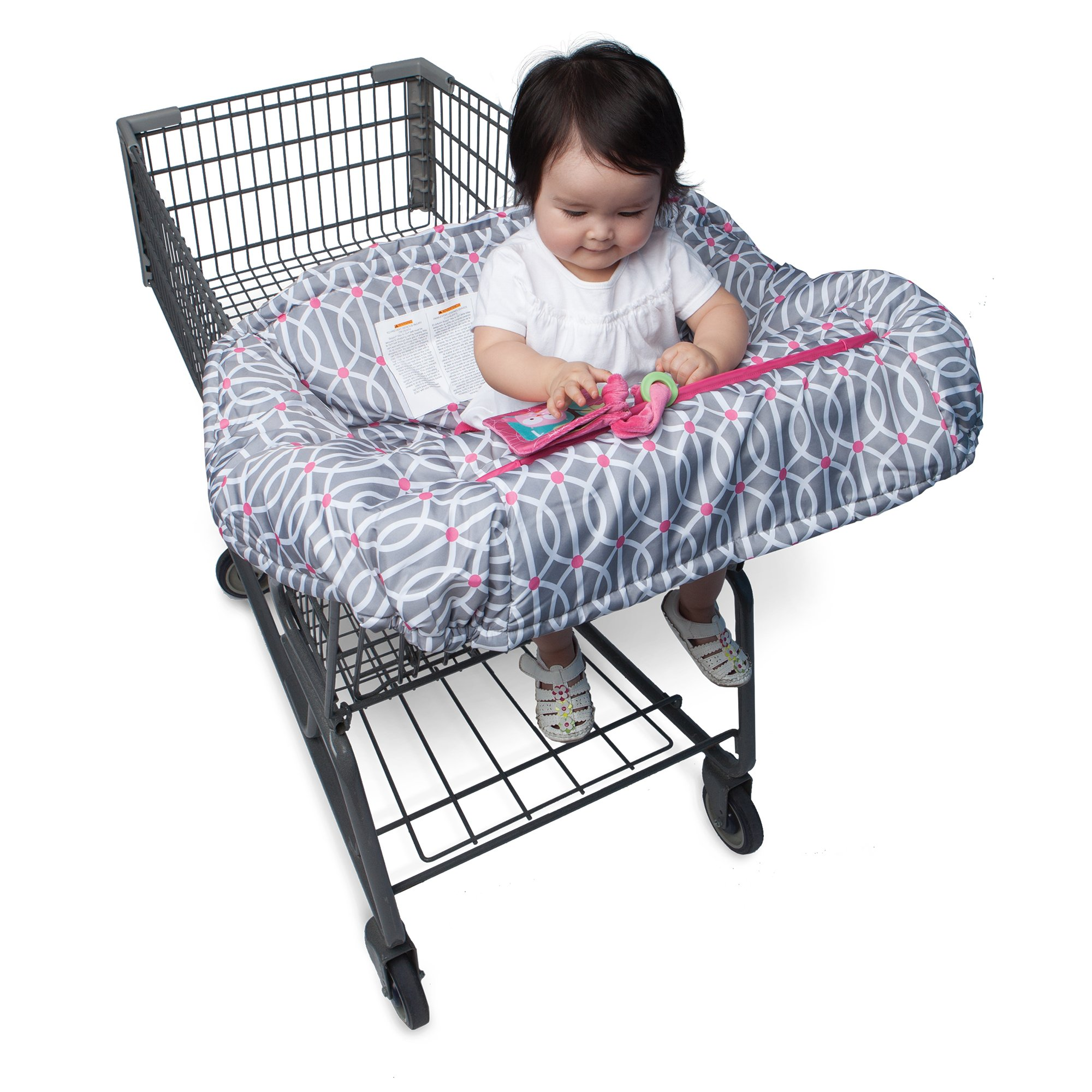 Boppy Shopping Cart And High Chair Cover Park Gate Pink