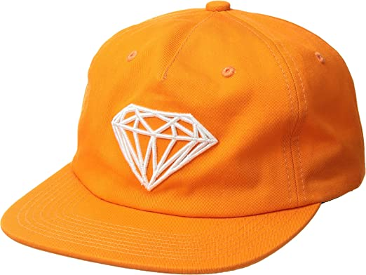 aca197d0e97464 Diamond Supply Co. Men's Brilliant Unstructured Snapback Orange One Size